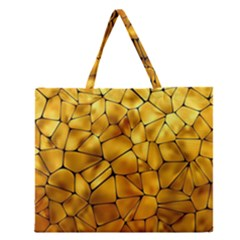 Gold Zipper Large Tote Bag by Mariart