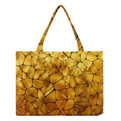 Gold Medium Tote Bag by Mariart
