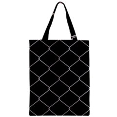 Iron Wire White Black Zipper Classic Tote Bag by Mariart