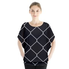Iron Wire White Black Blouse by Mariart