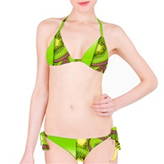 Fruit Slice Kiwi Green Bikini Set by Mariart