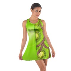 Fruit Slice Kiwi Green Cotton Racerback Dress by Mariart