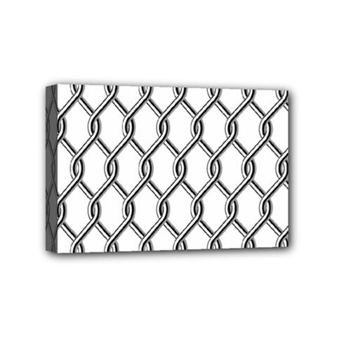Iron Wire Black White Mini Canvas 6  X 4  by Mariart