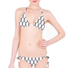 Iron Wire Black White Bikini Set by Mariart