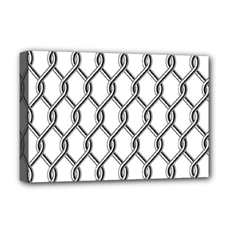 Iron Wire Black White Deluxe Canvas 18  X 12   by Mariart