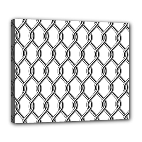 Iron Wire Black White Deluxe Canvas 24  X 20   by Mariart