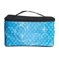 Leaf Blue Snow Circle Polka Star Cosmetic Storage Case by Mariart