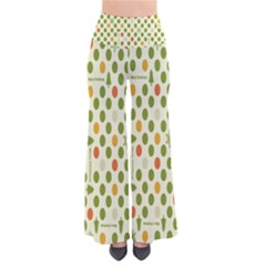 Merry Christmas Polka Dot Circle Snow Tree Green Orange Red Gray Pants by Mariart