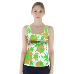Graphic Floral Seamless Pattern Mosaic Racer Back Sports Top by dflcprintsclothing