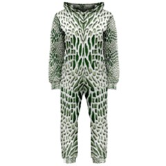 Green Snake Texture Hooded Jumpsuit (ladies)