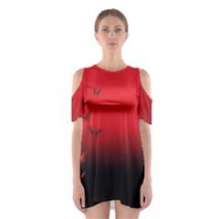 Lepidopteran Cutout Shoulder Dress