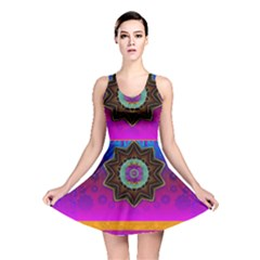 Air And Stars Global With Some Guitars Pop Art Reversible Skater Dress by pepitasart