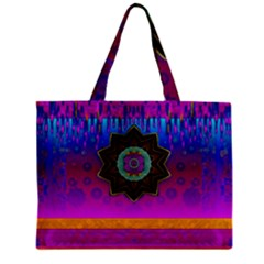 Air And Stars Global With Some Guitars Pop Art Zipper Mini Tote Bag by pepitasart