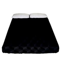 Black Pattern Dark Texture Background Fitted Sheet (queen Size)