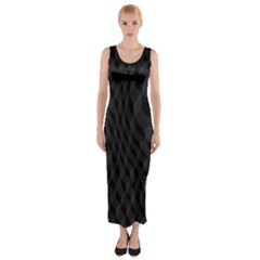 Black Pattern Dark Texture Background Fitted Maxi Dress