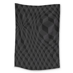 Black Pattern Dark Texture Background Large Tapestry by Nexatart