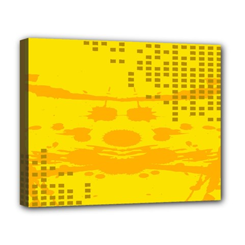 Texture Yellow Abstract Background Deluxe Canvas 20  X 16   by Nexatart
