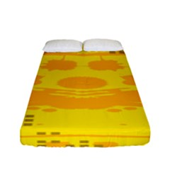 Texture Yellow Abstract Background Fitted Sheet (full/ Double Size)