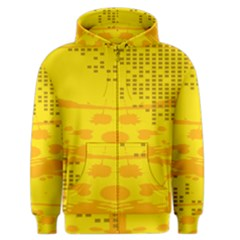 Texture Yellow Abstract Background Men s Zipper Hoodie