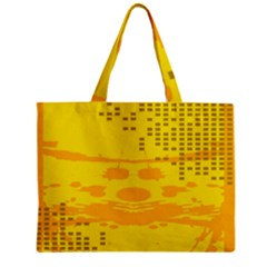 Texture Yellow Abstract Background Zipper Mini Tote Bag by Nexatart