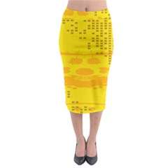 Texture Yellow Abstract Background Midi Pencil Skirt by Nexatart