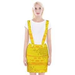 Texture Yellow Abstract Background Suspender Skirt