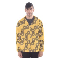 Abstract Shapes Links Design Hooded Wind Breaker (men)