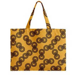 Abstract Shapes Links Design Zipper Mini Tote Bag
