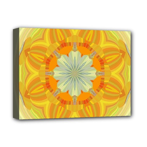 Sunshine Sunny Sun Abstract Yellow Deluxe Canvas 16  X 12