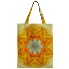 Sunshine Sunny Sun Abstract Yellow Zipper Classic Tote Bag by Nexatart