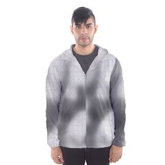 Puzzle Grey Puzzle Piece Drawing Hooded Wind Breaker (men)