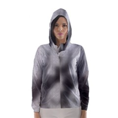 Puzzle Grey Puzzle Piece Drawing Hooded Wind Breaker (women)