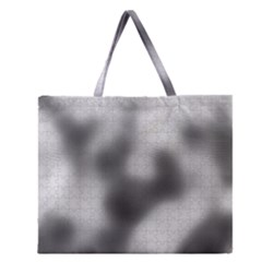 Puzzle Grey Puzzle Piece Drawing Zipper Large Tote Bag by Nexatart