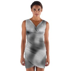 Puzzle Grey Puzzle Piece Drawing Wrap Front Bodycon Dress