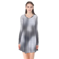Puzzle Grey Puzzle Piece Drawing Flare Dress