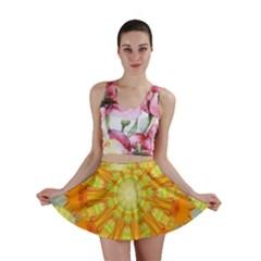 Sunshine Sunny Sun Abstract Yellow Mini Skirt