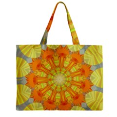 Sunshine Sunny Sun Abstract Yellow Zipper Mini Tote Bag by Nexatart
