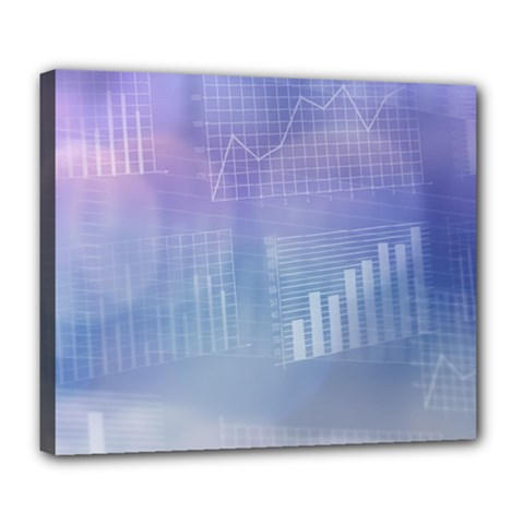 Business Background Blue Corporate Deluxe Canvas 24  X 20   by Nexatart