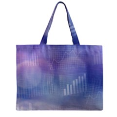 Business Background Blue Corporate Mini Tote Bag by Nexatart