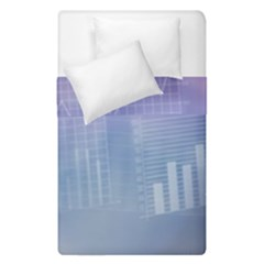 Business Background Blue Corporate Duvet Cover Double Side (single Size) by Nexatart