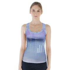 Business Background Blue Corporate Racer Back Sports Top by Nexatart
