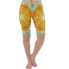 Sunshine Sunny Sun Abstract Yellow Cropped Leggings