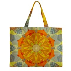 Sunshine Sunny Sun Abstract Yellow Zipper Mini Tote Bag