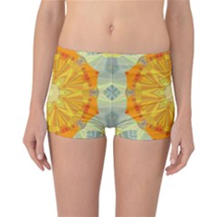 Sunshine Sunny Sun Abstract Yellow Reversible Bikini Bottoms