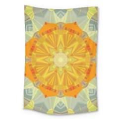 Sunshine Sunny Sun Abstract Yellow Large Tapestry by Nexatart