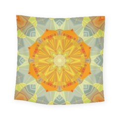 Sunshine Sunny Sun Abstract Yellow Square Tapestry (small) by Nexatart