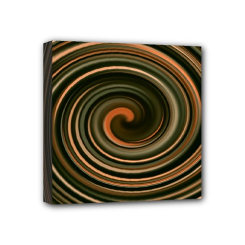 Strudel Spiral Eddy Background Mini Canvas 4  X 4