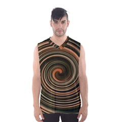 Strudel Spiral Eddy Background Men s Basketball Tank Top