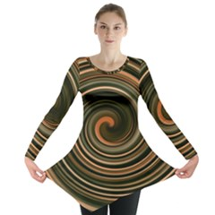 Strudel Spiral Eddy Background Long Sleeve Tunic
