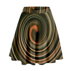 Strudel Spiral Eddy Background High Waist Skirt by Nexatart